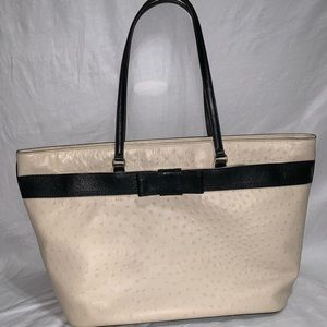 Kate Spade Ostrich Tote With Bow
